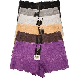 Women's 6 Pack Lace Cheeky Boyshorts Panties