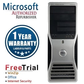 Refurbished Dell Precision T3400 Tower Intel Core 2 Duo E7600 3.0G 4G DDR2 1TB DVD NVS285 Win 7 Pro 64 Bits 1 Year Warranty