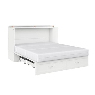 Hamilton Queen-size Murphy Bed Chest with Charging Station
