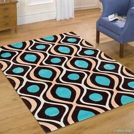 """AllStar Rugs Coco Hand Made Modern Transitional Linear Design Area Rug with Dimensional Hand-Carving Highlights (7' x 10' 2"""")"""
