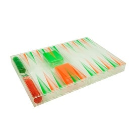 Translucent Backgammon Set by Bozart Karim Rashid