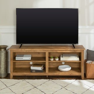 Porch & Den Dexter 58-inch Barnwood TV Stand Console