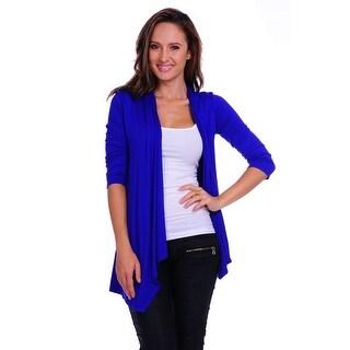 Simply Ravishing Women's Basic 3/4 Sleeve Open Cardigan (Size: Small-5X)