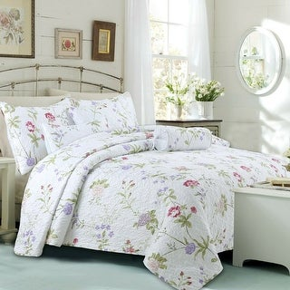 Cozy Line Lucie Floral 3-piece Quilt Set