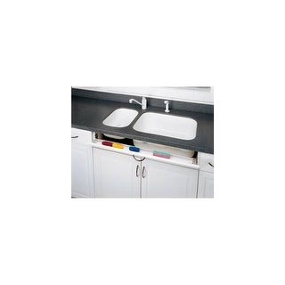 Rev-A-Shelf 6542-14-52 Tip-Out Slim Polymer Sink Accessory Tray Set - White