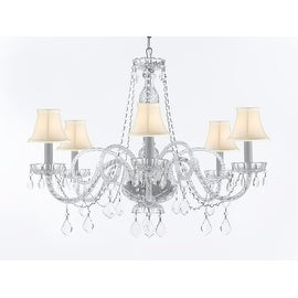Venetian Style Crystal 6 Light Chandelier with Shades
