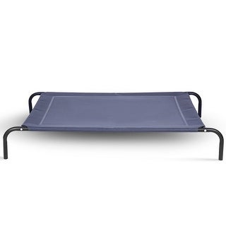 Gymax Large Dog Cat Bed Elevated Pet Cot Indoor Outdoor Camping Steel - xL