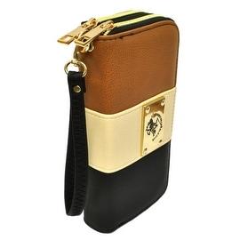 Beverly Hills Double Zip Wristlet Clutch Wallet