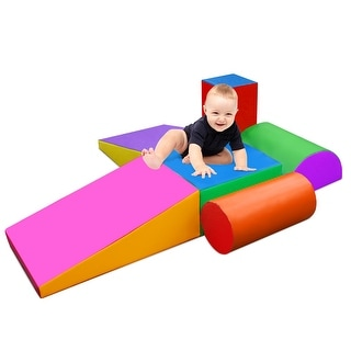 NewAge Climb and Crawl Foam Shapes Activity Play Set Foam Shapes Toy for Toddlers - Multicolor