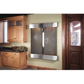 Adagio Cottonwood Falls With Rajah Featherstone in Stainless Steel Finish and Sq