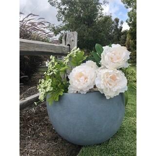 Durx-litecrete Lightweight Concrete Bowl Cement Color Planter-Large - 19.7'x19.7'x13'