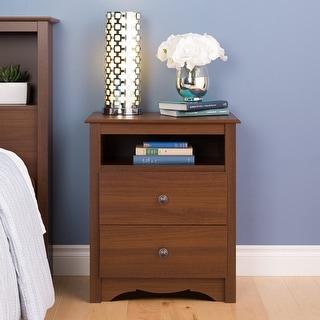 Copper Grove Parkhill Cherry 2-drawer & Open Cubbie Nightstand