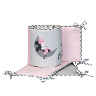 Disney Baby Minnie Mouse Pink/Gray 4-Piece Crib Bumper by Lambs & Ivy
