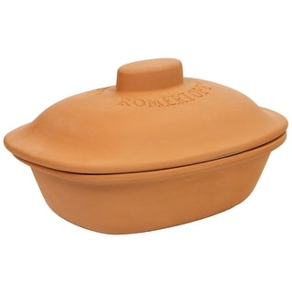 Romertopf by Reston Lloyd Trend Series Glazed Natural Clay Cooker,Medium, 3-Quart
