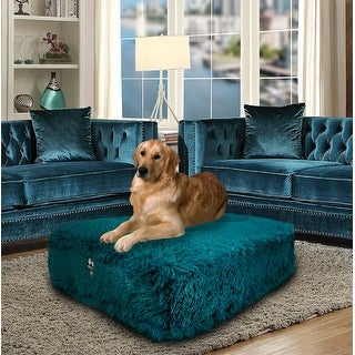 Bessie and Barnie Wonderlust Ultra Plush Faux Fur Luxury Shag Durable Sicilian Rectangle Pet/Dog Bed