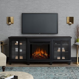 Marlowe Media Electric Fireplace Black