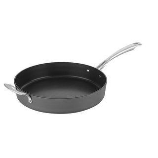 """Cuisinart 62I22-30H Conical Hard Anodized Non-Stick 12"""" Skillet with Helper, Black"""