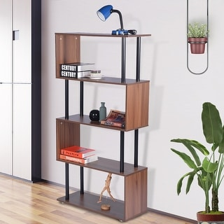 Porch & Den Zander Mid-century Wood Shelf Bookcase
