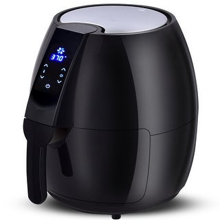 Costway 1500W Electric Air Fryer 4.8 Quart Touch LCD Screen Timer