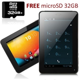 Indigi® 7.0inch Dual-Core Dual-Sim Android 4.2 SmartPhone and Tablet + WiFi + (Front&Rear) Cameras w/ 32gb microSD Included