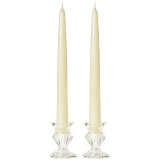 1 Pair Taper Candles Unscented 12 Inch Ivory Tapers .88 in. diameter x 12 in. tall