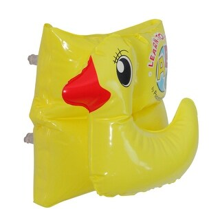 Inflatable Yellow Duck Swimming Pool Arm Float, 8-Inch