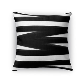 Kavka Designs black/ white bandages black accent pillow with insert
