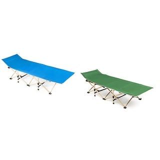 Foldable Camping Bed Portable Cot Bed w/Carrying Bag Outdoor Travel