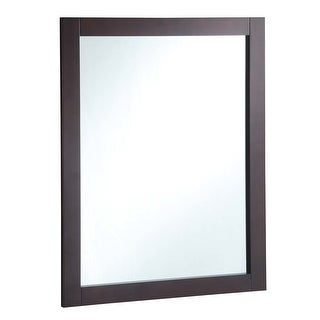 "Design House 547083 30"" Wall Mounted Mirror with Wooden Frame and - Espresso"