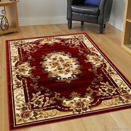 "AllStar Rugs Red WovenHand Classic Persian Design Area Rug (7' 9"" x 10' 5"")"
