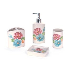 Elegant Ceramic 4 Piece Bathroom Accessory Set