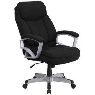 Big & Tall 500 lb. Rated Black Fabric Executive Swivel Ergonomic Office Chair
