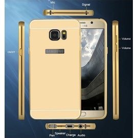 Premium Aluminum Metal Mirror Case With Bumper Snap-On Cover For Samsung Galaxy S7
