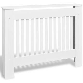 vidaXL Radiator Covers 2 pcs White MDF 44.1""