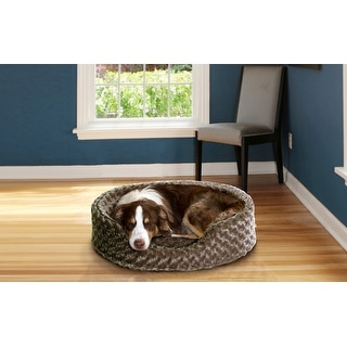 FurHaven Ultra Plush Oval Pet Bed