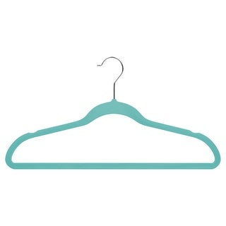 Suit Hangers, Tiffany Blue, Soft Grip Anti Slip, Set of 35
