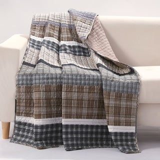 Barefoot Bungalow Gold Rush Quilted Throw Blanket