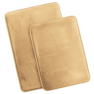 Memory Foam Bath Mat, Set of 2 Non-slip Rugs, Small and Large Size