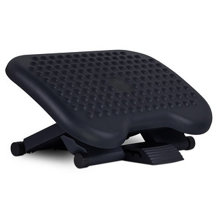 Mount-It! Ergonomic Footrest Adjustable Angle and Height Office Foot Rest Stool For Under Desk Support