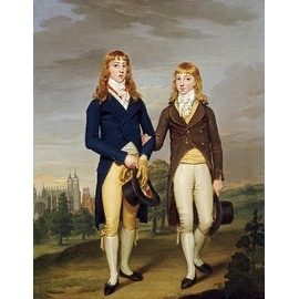 Portrait Of Two Eton Schoolboys by Francis Alleyne Children Art Print