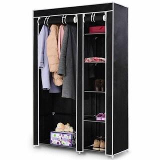"""Costway 69"""" Portable Closet Storage Organizer Clothes Wardrobe Shoe"""