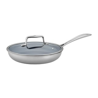 ZWILLING Clad CFX 2-pc Stainless Steel Ceramic Nonstick Fry Pan Set with Lid Set - Stainless Steel