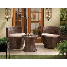 Contemporary Wicker Outdoor Patio Set