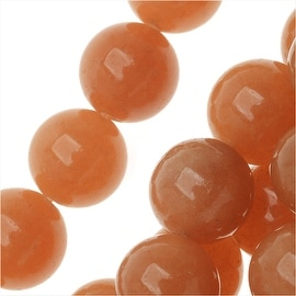 Orange Aventurine Gemstone Beads, Round 8mm, 15 Inch Strand, Orange