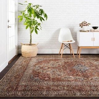 """Alexander Home Distressed Traditional Persian Mosaic Area Rug - 7'10"""" x 10'"""