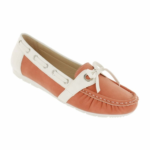 Red Circle Footwear 'London' Slip on Loafer with Bow