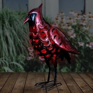 """Solar Red Metal Cardinal - 14.5"""" x 5.5"""" x 17.5"""""""