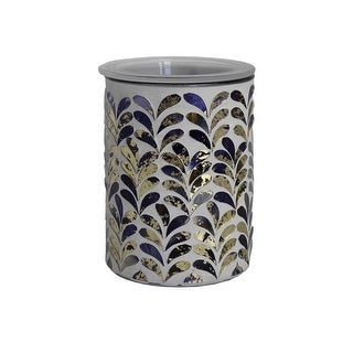 Home Indoor Decorative Scented MOSAIC Royal Plume Full Size Wax Warmer - Grout