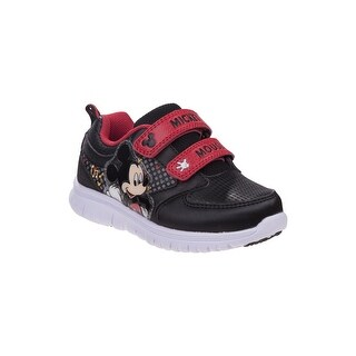 Disney Black Red Mickey Mouse Sneakers Little Boys