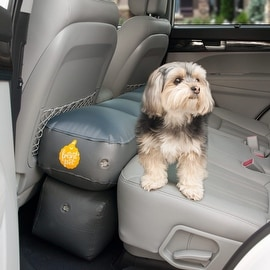 Frontpet Back Seat Car Extender Inflatable Platform With FREE Carry Bag, Electric Air Pump & Repair Kit